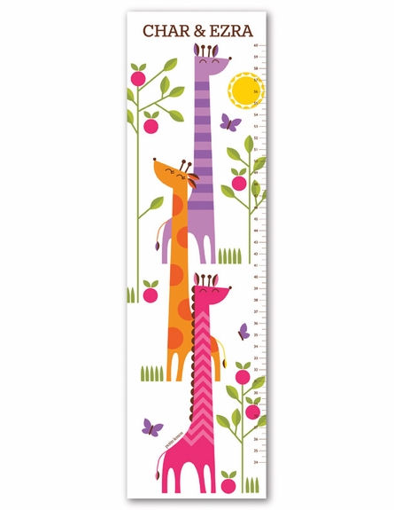 Growing Giraffes Personalized Growth Chart