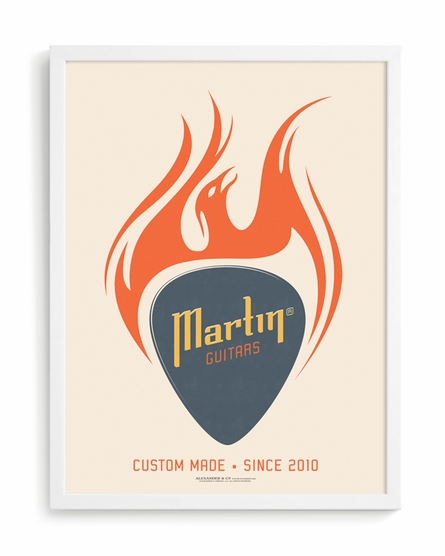 Guitar Pick Custom Framed Art Print
