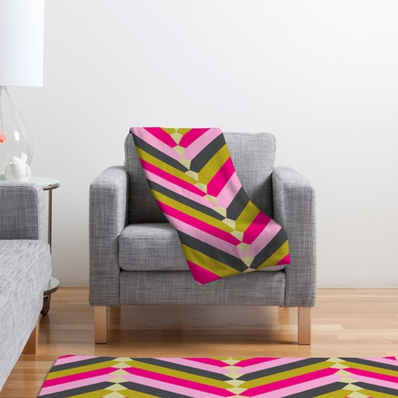 Gypsy Chevron Fleece Throw Blanket
