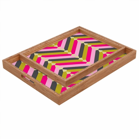 Gypsy Chevron Rectangle Tray