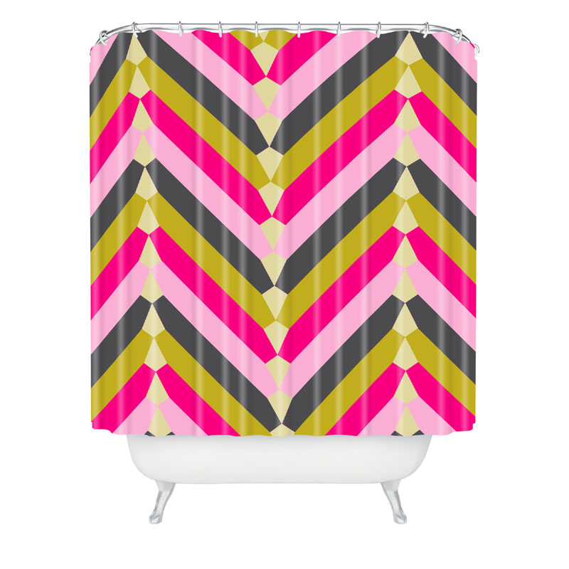 ... Bath Time > Shower Curtains For Kids > Gypsy Chevron Shower Curtain