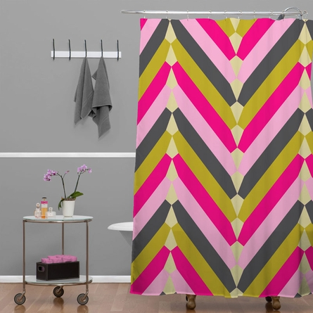 Gypsy Chevron Shower Curtain