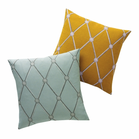 Hadley Throw Pillow in Mist