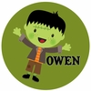 Halloween Boy Personalized Melamine Plate