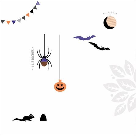 Halloween Creatures Wall Decal