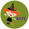 Halloween Girl Personalized Melamine Plate