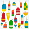 Hampton Buoys Canvas Wall Art