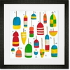 Hampton Buoys Framed Art Print