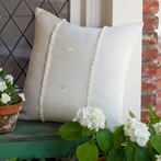 Hampton Cream Porch Pillow