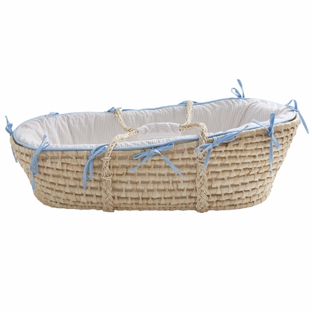 Hampton Seersucker Moses Basket