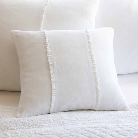 Hampton White Boudoir Pillow