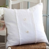 Hampton White Porch Pillow
