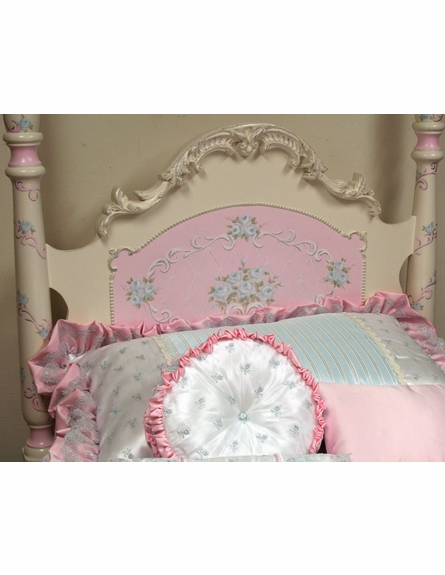 Hand Painted Roses & Scrolls Simply Elegant Bed