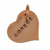 Hand Stamped Copper Heart Pendant