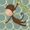Hanging Monkey Canvas Wall Art