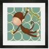 Hanging Monkey Framed Art Print
