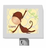 Hanging Monkey Yellow and Grey Night Light
