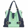 Hannah Diaper Bag - Mint and Navy