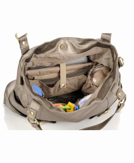 Hannah Diaper Bag - Pewter