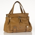 Hannah Leather Diaper Bag in Tan