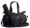 Hansel Leather Diaper Bag - Black Lux