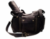 Hansel Leather Diaper Bag - Black Lux with Pyramid Studs