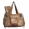 Hansel Leather Diaper Bag - Champagne