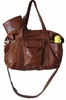 Hansel Leather Diaper Bag - Cognac Diesel