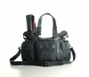 Hansel Leather Diaper Bag - Gray Distressed