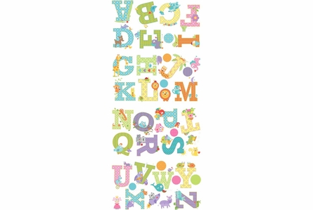 Happi Animal Alphabet Peel & Stick Wall Decals