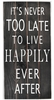 Happily Ever After Quote Vintage Slat Wall Sign