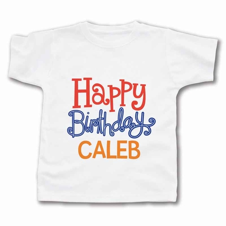 Happy Birthday Boy Personalized T-Shirt