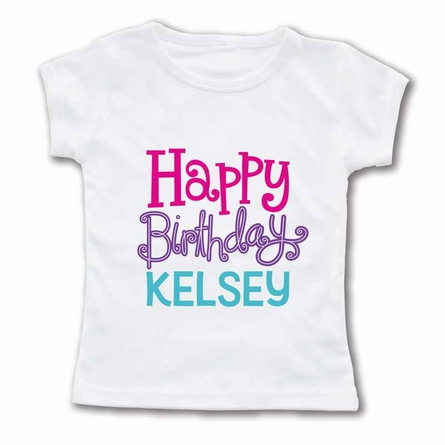 Happy Birthday Girl Personalized T-Shirt