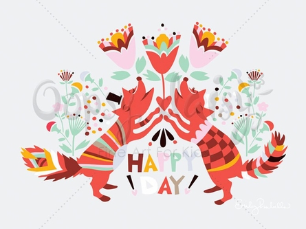 Happy Day Canvas Wall Art