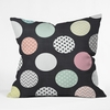 Happy Dots Throw Pillow