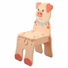 Happy Farm Wooden Pig Chair