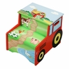 Happy Farm Wooden Step Stool with Storage