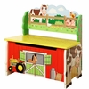 Happy Farm Wooden Storage Bench