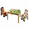 Happy Farm Wooden Table and Set of 2 Chairs
