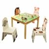 Happy Farm Wooden Table and Set of 4 Chairs