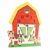 Happy Farm Wooden Wall Clock
