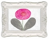 Happy Flower Art Print with White Frame