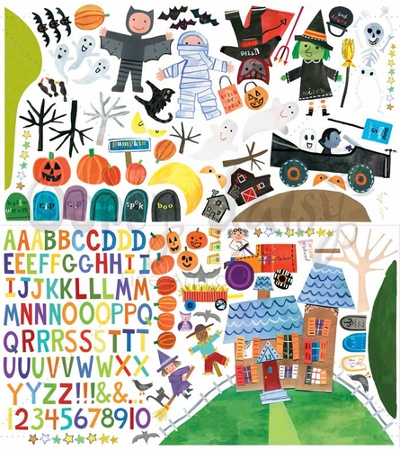 Happy Halloween Peel & Place Wall Stickers