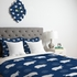 Happy Hippo Blue Lightweight Duvet Cover