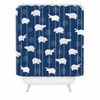 Happy Hippo Blue Shower Curtain