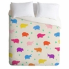 Happy Hippo Party Lightweight Duvet Cover