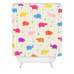 Happy Hippo Party Shower Curtain