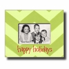 Happy Holidays Chevron - Lime Picture Frame