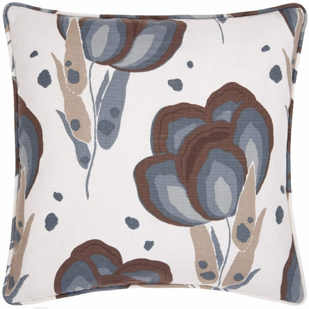 Happy Poppies Slate Square Pillow