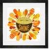 Happy Shine Framed Art Print
